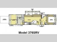 Floorplan - 2008 Forest River RV Salem XL 376SRV