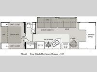 Floorplan - 2009 Four Winds RV Chateau 31P
