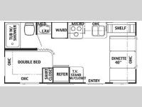 Floorplan - 2005 Forest River RV Wildwood 19 FD