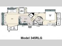 Floorplan - 2009 Forest River RV Sandpiper 345RLG