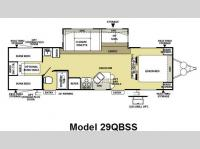 Floorplan - 2009 Forest River RV Wildwood LE 29QBSS