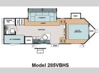 Floorplan - 2009 Forest River RV V-Cross 285VBHS