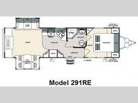 Floorplan - 2009 Forest River RV Sandpiper 291RE