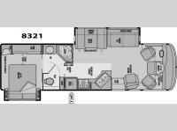 Floorplan - 2005 National RV Sea Breeze LX 8321