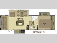 Floorplan - 2010 Open Range RV Journeyer JFW280RLS