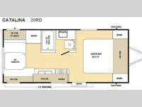 Floorplan - 2010 Coachmen RV Catalina 20RD