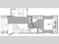 Floorplan - 2010 Keystone RV Cougar 244RLSWE