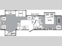 Floorplan - 2010 Keystone RV Cougar 318SAB
