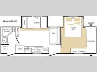 Floorplan - 2010 Keystone RV Cougar 26BRSWE