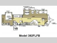 Floorplan - 2010 Forest River RV Wildwood Lodge 392FLFB