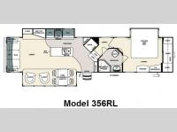Floorplan - 2010 Forest River RV Sandpiper 356RL