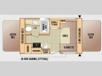 Floorplan - 2010 Jayco Jay Feather Ex-Port 17C