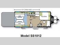 Floorplan - 2009 Forest River RV Stealth Limited Edition SS1812
