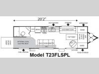 Floorplan - 2009 Forest River RV Sandstorm T23FLSPL