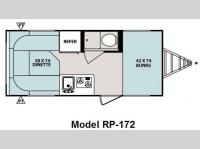Floorplan - 2010 Forest River RV R Pod RP-172