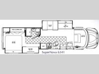 Floorplan - 2010 Gulf Stream RV SuperNova 6341