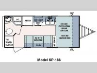 Floorplan - 2009 Forest River RV Surveyor SP 186
