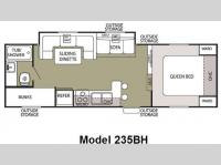 Floorplan - 2010 Forest River RV Cherokee Grey Wolf 235BH