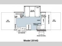 Floorplan - 2010 Forest River RV Rockwood Premier 2514G