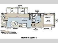 Floorplan - 2010 Forest River RV Rockwood Signature Ultra Lite 8285WS