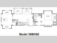 Floorplan - 2010 Forest River RV Cedar Creek 36BHSE