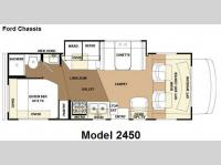 Floorplan - 2010 Forest River RV Sunseeker 2450Ford