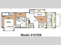 Floorplan - 2010 Forest River RV Forester 3121DS