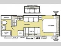 Floorplan - 2010 Forest River RV Salem LE 23FB