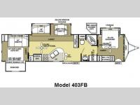Floorplan - 2009 Forest River RV Salem 403FB