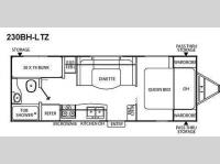 Floorplan - 2010 Coachmen RV Freedom Express LTZ 230BH