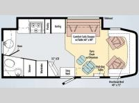 Floorplan - 2010 Winnebago View 24A