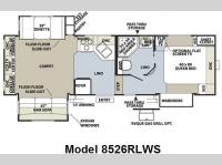Floorplan - 2010 Forest River RV Flagstaff Classic Super Lite 8526RLWS