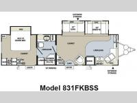 Floorplan - 2010 Forest River RV Flagstaff Classic Super Lite 831FKBSS