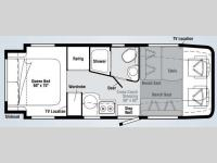 Floorplan - 2010 Winnebago View Profile 24DL