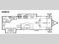 Floorplan - 2010 Coachmen RV Freedom Express 300BHS
