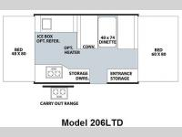 Floorplan - 2010 Forest River RV Flagstaff MAC LTD Series 206LTD