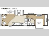 Floorplan - 2010 Coachmen RV Chaparral 278DS