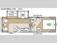 Floorplan - 2010 Coachmen RV Chaparral Lite 267RLS