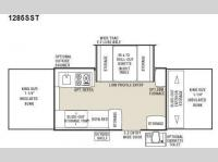 Floorplan - 2010 Coachmen RV Clipper Classic 1285SST