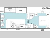Floorplan - 2006 Keystone RV Cougar 276EFS