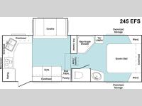 Floorplan - 2006 Keystone RV Cougar 245EFS