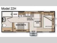 Floorplan - 2010 Northwood Nash 22H