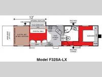 Floorplan - 2010 Forest River RV Shockwave LX F32SA-LX