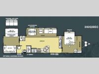 Floorplan - 2010 Forest River RV Salem Villa Estate 392QBEC