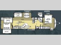 Floorplan - 2010 Forest River RV Salem Villa Estate 403FB