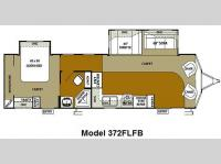 Floorplan - 2010 Forest River RV Wildwood DLX 372FLFB