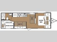 Floorplan - 2010 Dutchmen RV Four Winds 270B Breeze