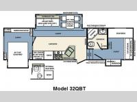 Floorplan - 2011 Forest River RV Wildcat 32QBT