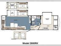 Floorplan - 2011 Forest River RV Blue Ridge 2950RK
