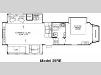 Floorplan - 2011 Forest River RV Cedar Creek Silverback 29RE